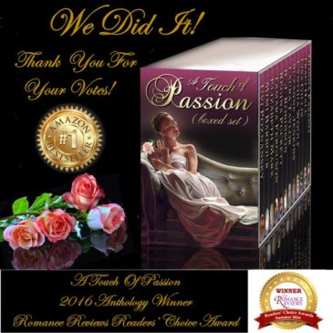 A TOUCH OF PASSION winner of the 2016 The Romance Reviews Readers' Choice Awards!
